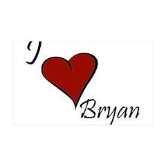 I love Bryan 38.5 x 24.5 Wall Peel