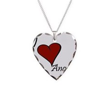 I love Angelica Necklace Heart Charm