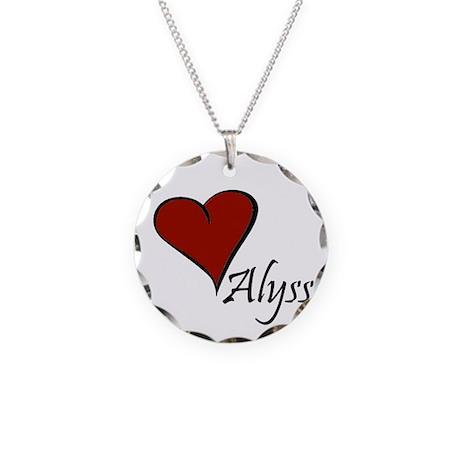 I love Alyssa Necklace Circle Charm