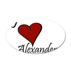 I love Alexander 38.5 x 24.5 Oval Wall Peel