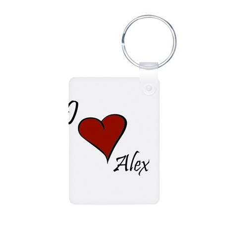 I love Alex Aluminum Photo Keychain
