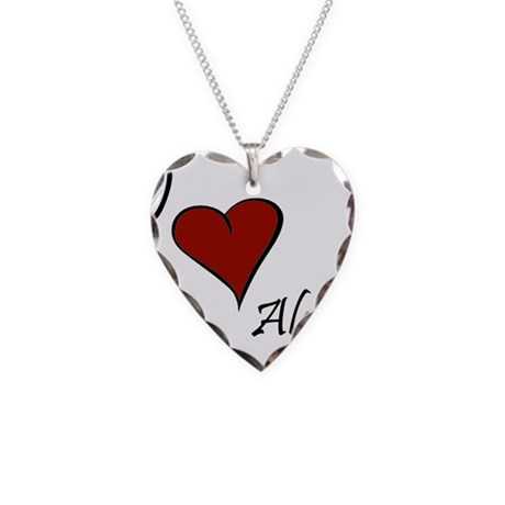 I love Alec Necklace Heart Charm