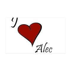 I love Alec 38.5 x 24.5 Wall Peel