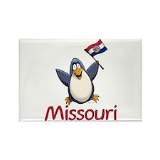 Missouri Penguin Rectangle Magnet