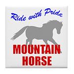 Ride With Pride Mountain Horse Tile Coaster