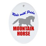 Ride With Pride Mountain Horse Oval Ornament