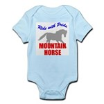 Ride With Pride Mountain Horse Infant Creeper