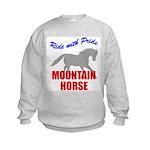 Ride With Pride Mountain Horse Kids Sweatshirt