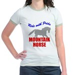 Ride With Pride Mountain Horse Jr. Ringer T-Shirt