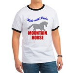 Ride With Pride Mountain Horse Ringer T