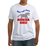 Ride With Pride Mountain Horse Fitted T-Shirt