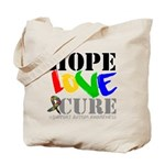Hope Love Cure Autism Tote Bag