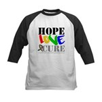 Hope Love Cure Autism Kids Baseball Jersey