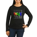 Hope Love Cure Autism Women's Long Sleeve Dark T-S