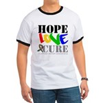 Hope Love Cure Autism Ringer T