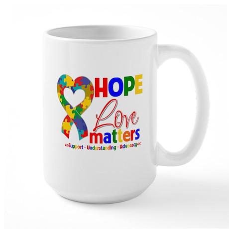 Hope Love Matters Autism Large Mug
