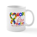 Hope Love Matters Autism Mug