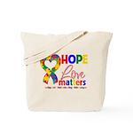 Hope Love Matters Autism Tote Bag