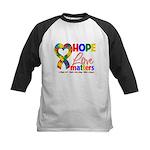 Hope Love Matters Autism Kids Baseball Jersey