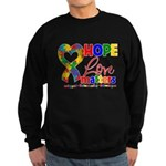 Hope Love Matters Autism Sweatshirt (dark)