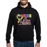 Hope Love Matters Autism Hoodie (dark)