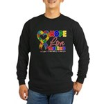 Hope Love Matters Autism Long Sleeve Dark T-Shirt