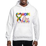 Hope Love Matters Autism Hooded Sweatshirt