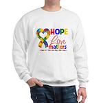 Hope Love Matters Autism Sweatshirt