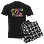 Hope Love Matters Autism Men's Dark Pajamas