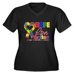 Hope Love Matters Autism Women's Plus Size V-Neck