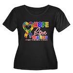 Hope Love Matters Autism Women's Plus Size Scoop N
