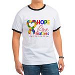 Hope Love Matters Autism Ringer T