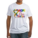 Hope Love Matters Autism Fitted T-Shirt
