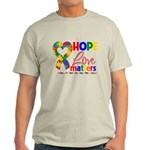 Hope Love Matters Autism Light T-Shirt