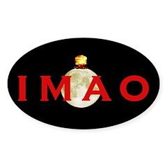 IMAO Logo Black Oval Decal