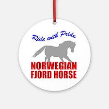 Pride Norwegian Fjord Horse Ornament (Round)