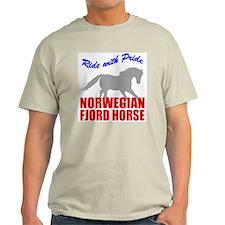 Pride Norwegian Fjord Horse Ash Grey T-Shirt