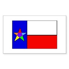 Rainbow Lone Star State - Rectangle Decal