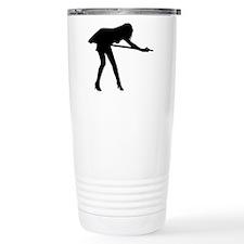 Billiards woman Travel Coffee Mug
