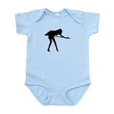 Billiards woman Infant Bodysuit