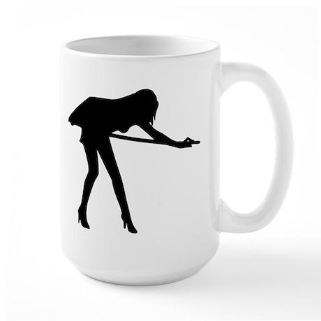 Billiards woman Large Mug