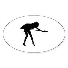 Billiards woman Decal
