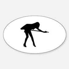 Billiards woman Decal