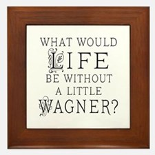Funny Wagner Music Quote Framed Tile