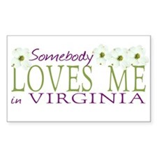 Somebody Loves Me in Virginia Decal
