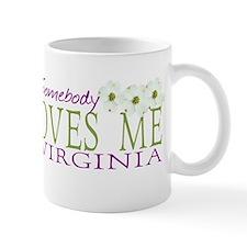 Somebody Loves Me in Virginia Mug