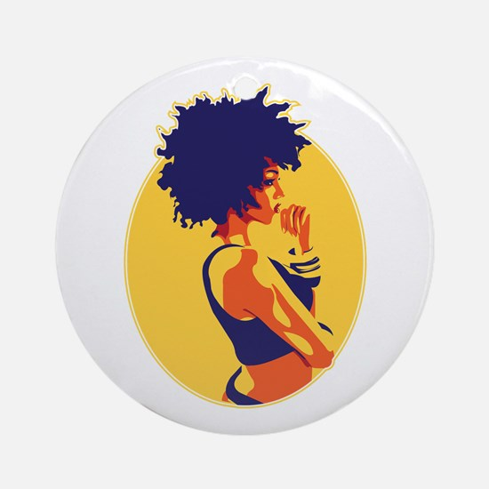 The Thinker Ornament (Round)