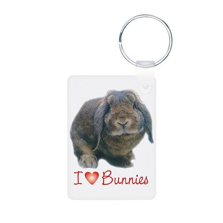bunny lover Aluminum Photo Keychain