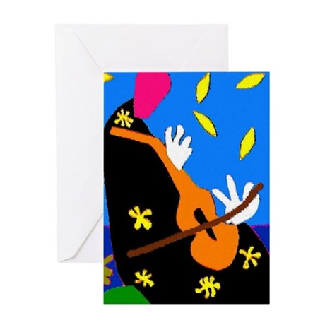 Abstract Cello, or Violin Greeting Card
