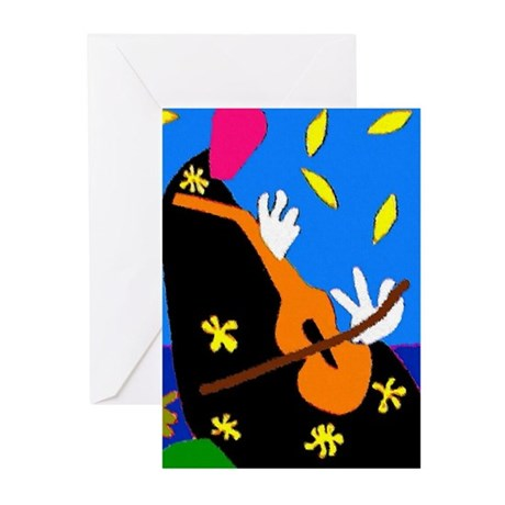 Abstract Cello, or Violin Greeting Cards (Pk of 10